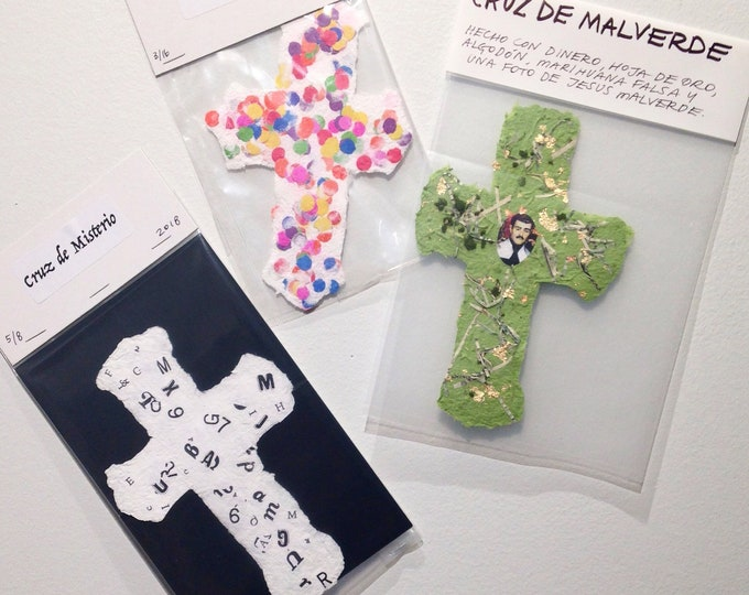 Handmade Paper Cross bundle