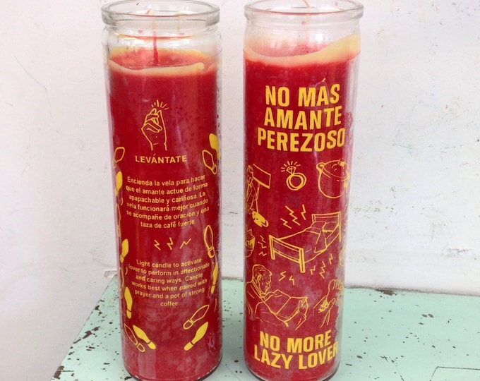 No More Lazy Lover prayer candle