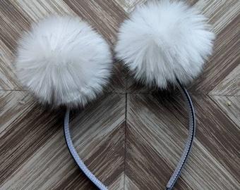 ad6d41ccfca Faux Fur Pom Pom Headband