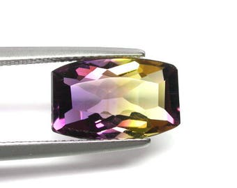 4.88 ctw. bicolor ametrine cushion loose gemstone .