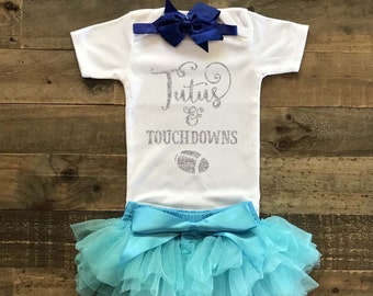 dc2e41a5f Football Shirt Tutus And Touchdowns Football Outfit Baby