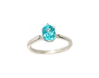 5d484a125 Neon Blue Apatite Ring 19th Century Antique Apatite Gemstone Ancient Roman  Goddess Pandora Box Jewelry Creativity Gem Silver Ring #62000