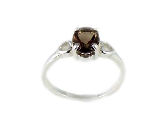 Smokey Quartz Ring Mount Cairngorm Gemstone Goddes