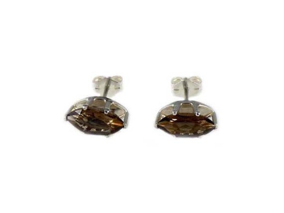 Smoky Quartz Earrings Smokey Quartz Studs Natural