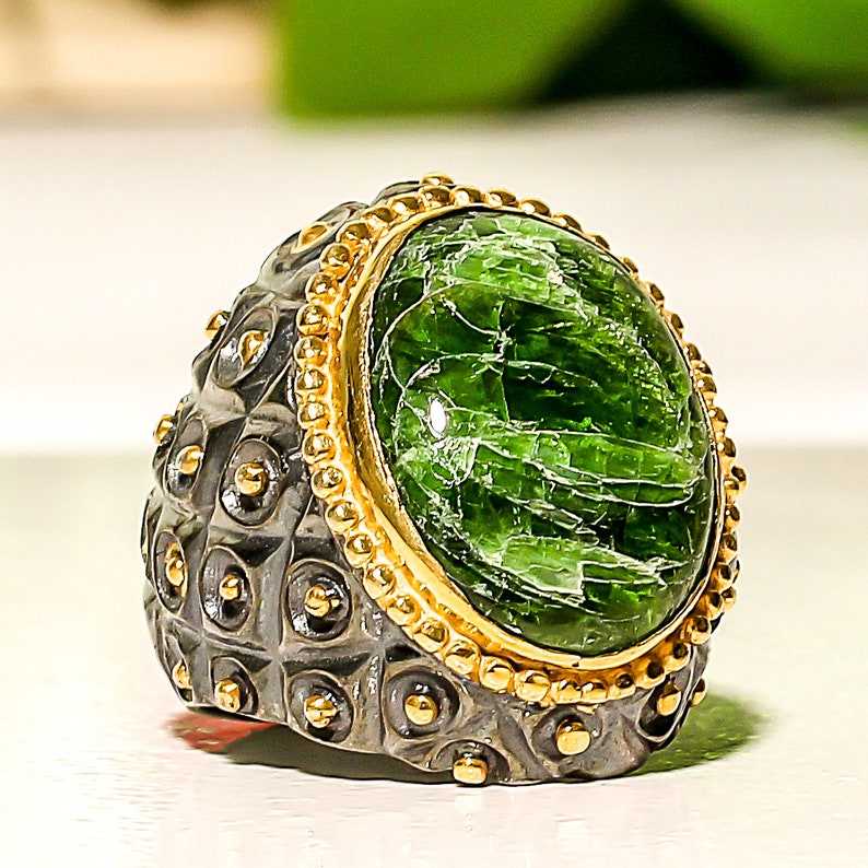 Vasonite Gemstone 925 Sterling Silver Jewelry Ring 7.5