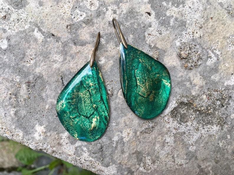 Blue jewelry Dangle blue earrings Resin Blue Blue aqua jewelry Aqua green earrings Long earrings blue Vintage earrings blue women gift