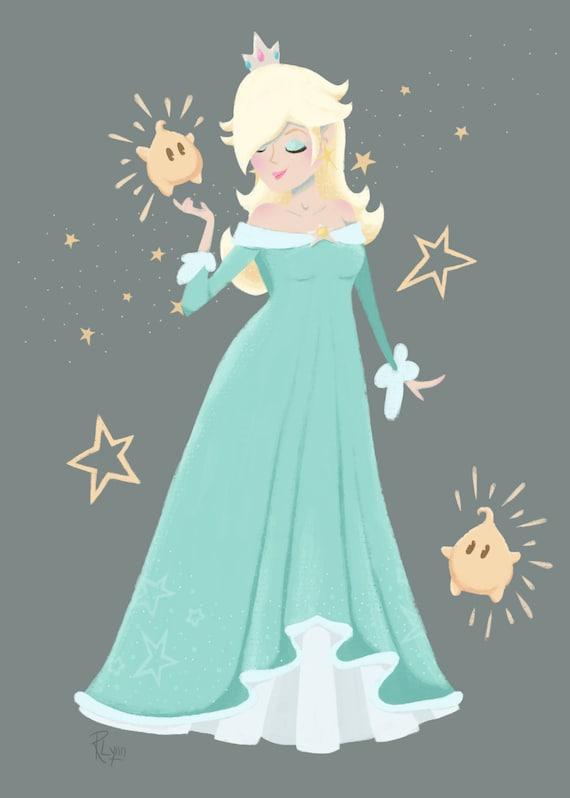 super mario galaxy princesse nintendo princesse rosalina etsy