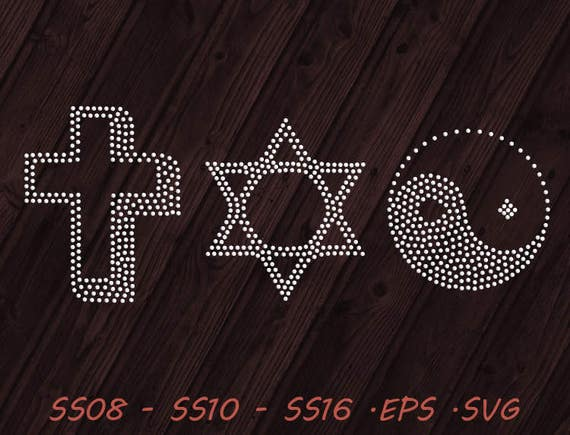 Rhinestone Symbols Svg Eps Digital Template Vector Etsy