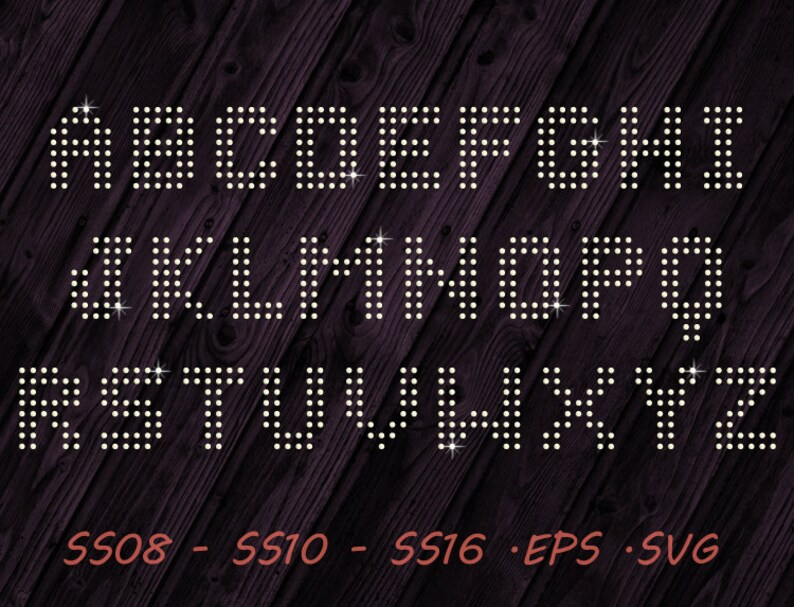 Rhinestone Sports Jersey - Font - SVG EPS Digital Template - Vector Clipart  - Cricut - Silhouette Studio - Cutting File Vector Files