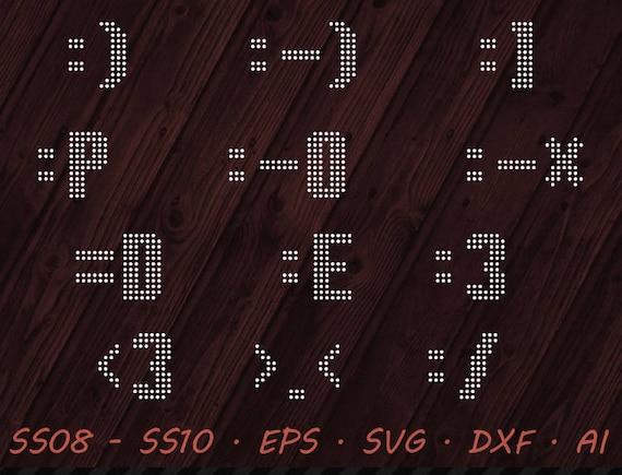 Rhinestone Emoji Svg Eps Dxf Ai Digital Template Vector Etsy
