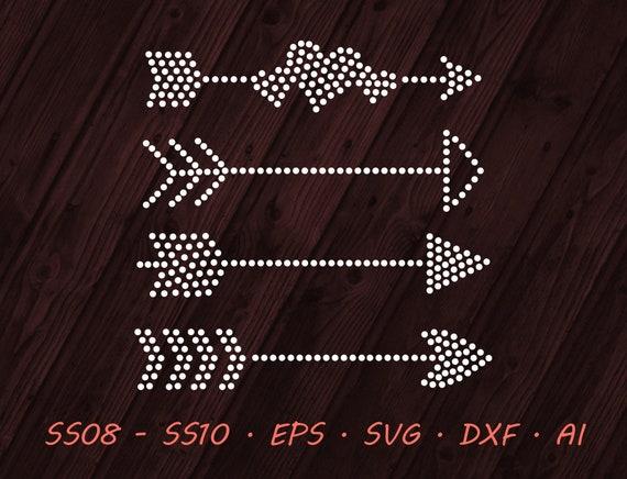 Rhinestone Arrows Designs Svg Eps Dxf Ai Digital Template Etsy