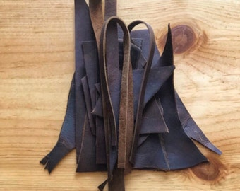 Leather Scraps // 7.5 oz