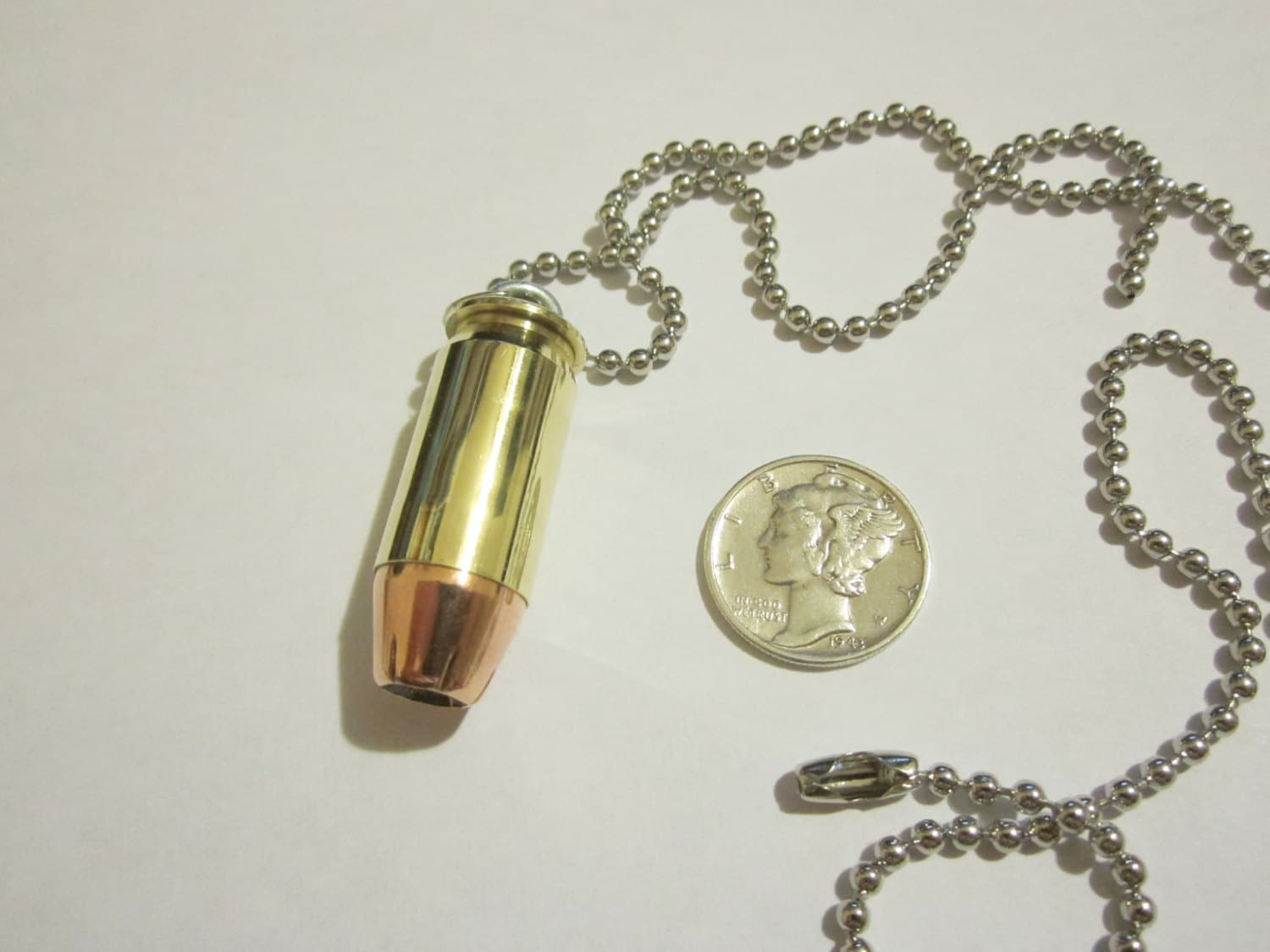 20 ACP Brass Hollowpoint Bullet Necklace   20