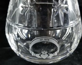 Rare WATERFORD CRYSTAL Candle Lismore Votive Stephen Fowl Claddagh ring etched