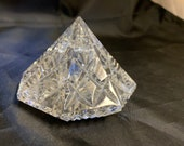 Waterford Crystal Diamond Shaped Lismore Paperweight 2 3 8 quot Tall by 3.5 quot Wide