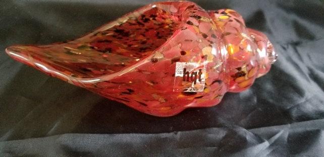 Hqt Handmade Home Design Hand Blown Glass Heavy Sea Shell Etsy