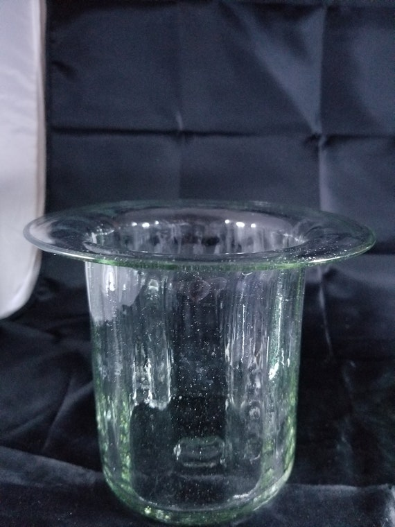 Hat Shaped Hand Blown Glass Vase 6 T By 6 W Etsy