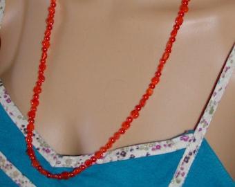 Orange Carnelian sterling necklace