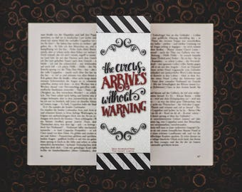 Without Warning - The Night Circus inspired bookmarks