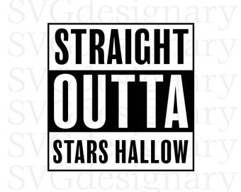 Stars Hallow (Gilmore Girls TV Show, Jess, Lukes Diner, Connecticut, Coffee, T-shirt, Shirt) SVG PNG Download