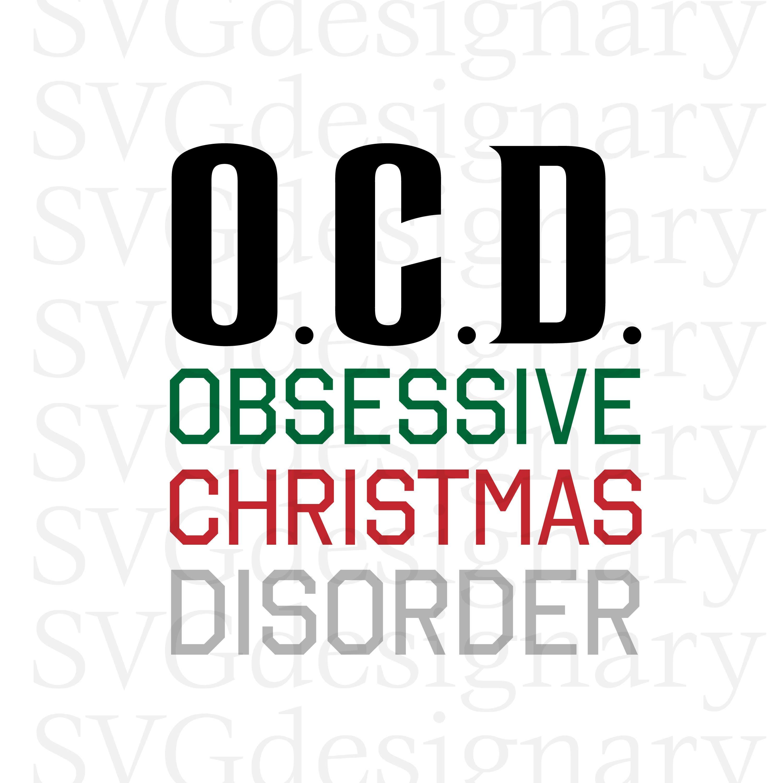 OCD Obsessive Christmas Disorder O.C.D. Holiday Santa Hat | Etsy