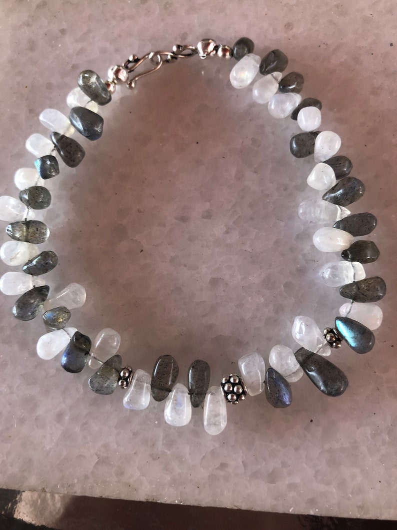 Labradorite /& Moonstone Drop Bracelet