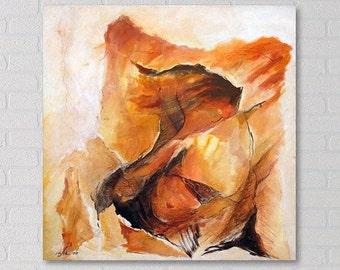 Woman Painting, Original Canvas Art, Acrylic Painting, Abstract Acrylic Painting, Original Acrylic Painting, Painting abstract, Red Painting