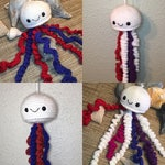 Crocheted Sparkle Jellyfish Amigurumi Jellyfish