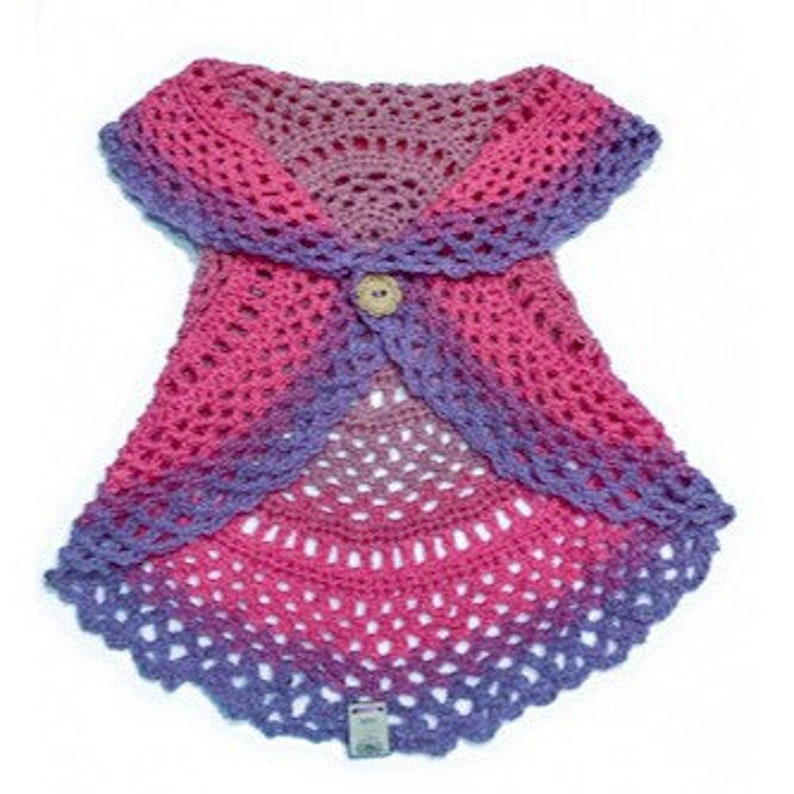 Toddler Boho Crochet Circular Vest Little Girls Circle Vest image 0