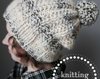 The Smee Slouch Hat Knitting Pattern -- Simple & Easy Beginner Pattern, slouch, beanie, variations, inspired by J.M. Barrie's 'Peter Pan'