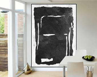extra large wall art canvas large abstract Painting, Black and White wall art, large painting on canvas, contemporary large Abstract art