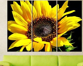 Sunflower canvas print wall art,  extra large wall art, nature flower  large canvas art,  wall art canvas,  wall decoration, art print 6s85