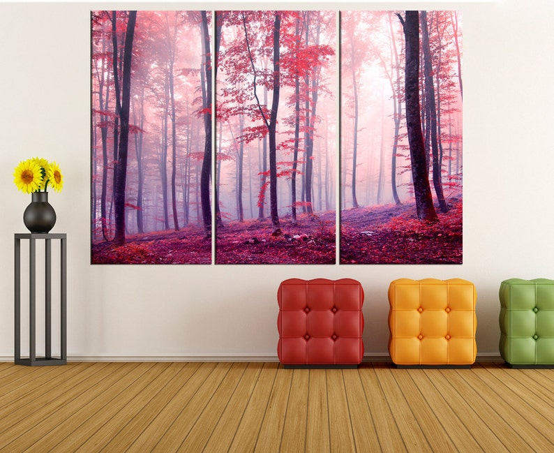 22567fd6f70 Autumn Forest canvas print extra large wall art modern art