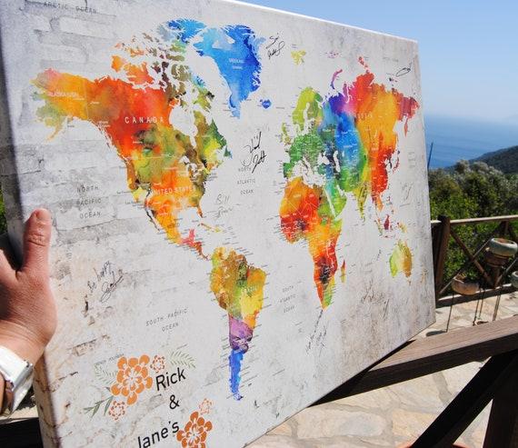Karte Gastebuch Massgeschneiderte Reise Hochzeit Karte Karte Etsy