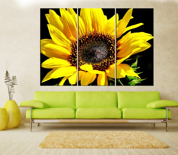 Sunflower canvas print wall art extra large wall art nature
