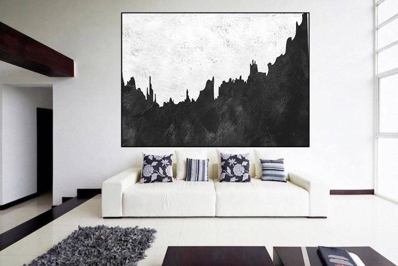 Grote Foto Aan De Muur.Extra Grote Muur Kunst Oorspronkelijke Abstract Schilderij Zwart Wit Grote Schilderen Op Doek Kunst Aan De Hedendaagse Muur Grote Abstracte Kunst