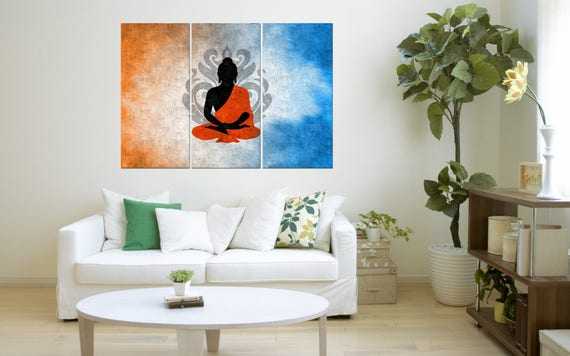 Buddha Art Buddha Canvas Print For Large Wall Home Decor | Etsy