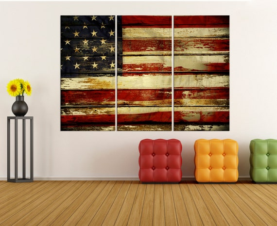 faf3d52b4dc Large Wall Art For Living Room Usa Flag Canvas Print Extra