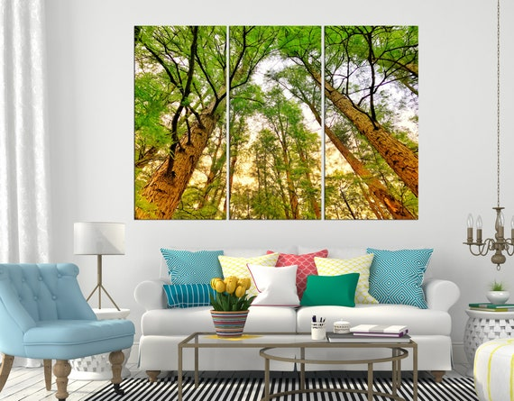 Large Yellow tree black white Home Decor Nature Framed Canvas Print Wall Art 114