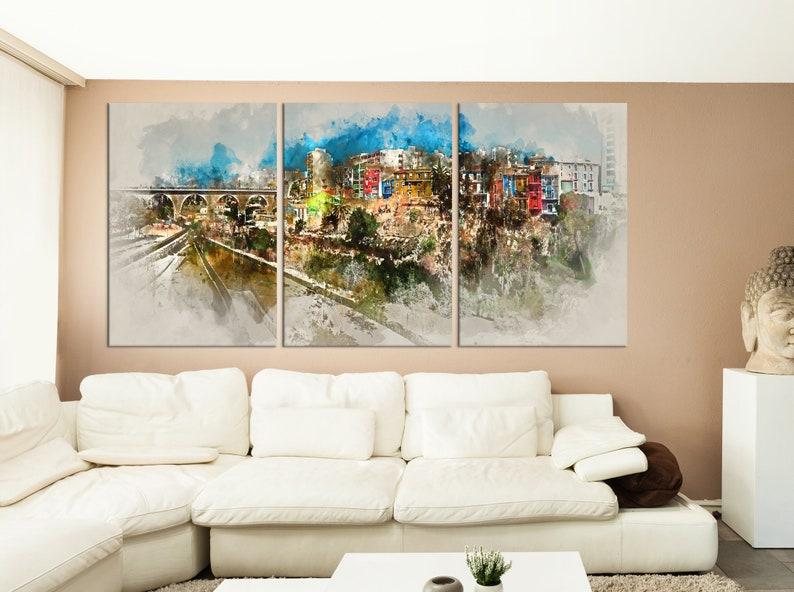 watercolor print Large wall art  abstract art print colorful wall decal watercolor wall art  ab28 Abstract city wall art canvas print