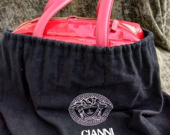 09f384eb6113 GIANNI VERSACE vintage medussa hand bag. Perfect condition. Made in Italy.  Red colour hand bag.