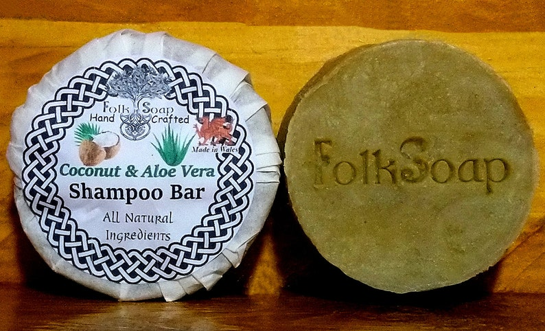 Shampoo Bar Coconut Milk and Aloe Vera with Vanilla. The Best Natural Shampoo (and Conditioner) in Wales by a Hopeful Home.