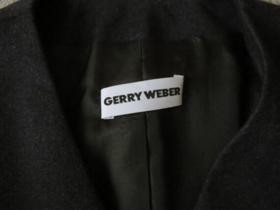 Lady Jacket, Brand Gerry Weber, Anthracite Color, 100% Virgin Wool Jacket, Vintage, T.40