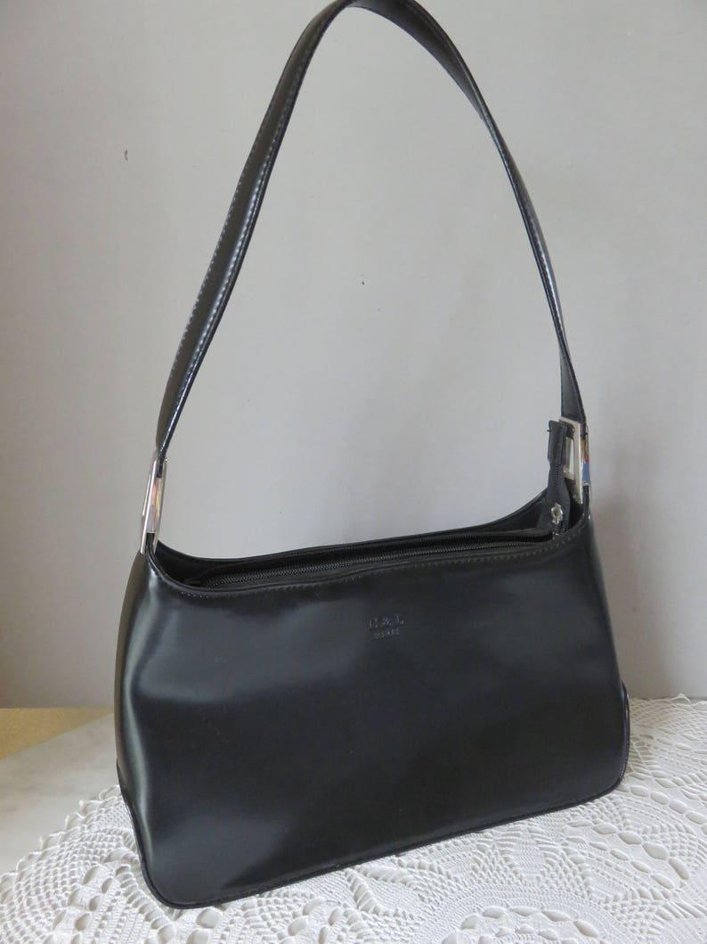 433e09a9fd472 Schulter Handtasche Tasche Tür schwarz Vintage Marke C   L