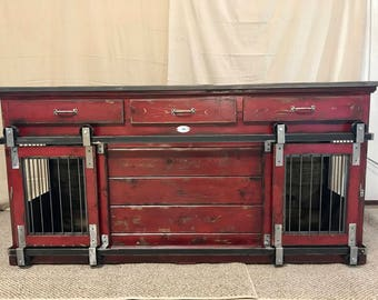 Farmhouse Style indoor Custom Dog Kennel, Double Large starting at 1795