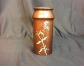 Heintz Art Sterling Calla Lily on Bronze Vase 3802 Brown Patina