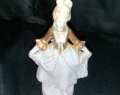 Dresden Carl Thieme Female Figurine 75 With Gold Vest ca. 1880s