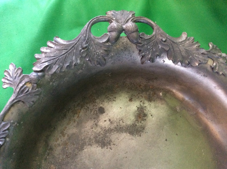 Antique Novapeltro pewter Rein Zinn Footed Hand Forged bowl