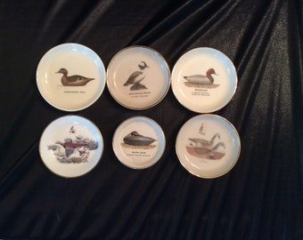 Ducks, Geese and Pheasant Plates set of 6