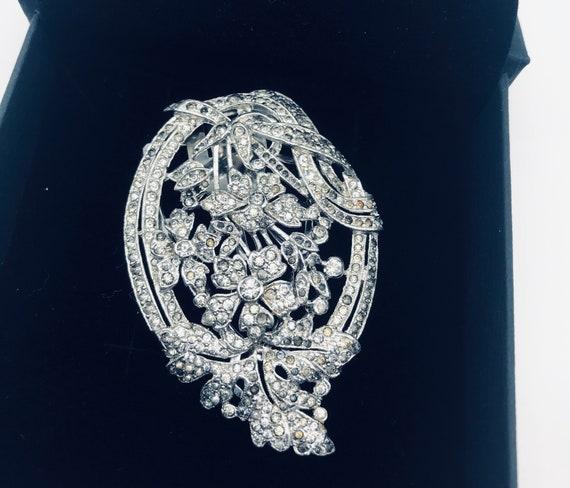 Art Deco Marcasite Dress Clip